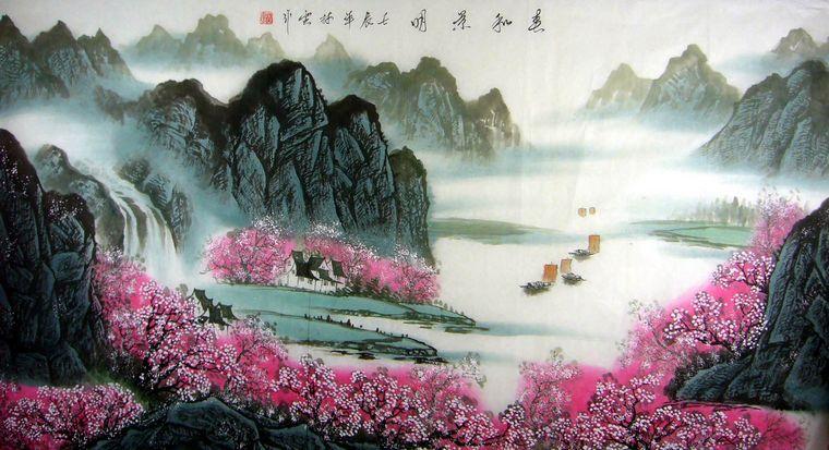 高档手绘陶瓷瓷板画,家居装饰瓷板画,大厅挂画瓷板画,风景装饰瓷板画