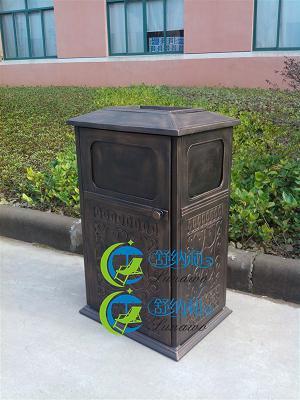 长春高档垃圾桶 欧式铸铝垃圾桶