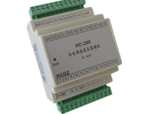 可选4~8路热电偶温度信号输入,可接s,r,b,k,n,e,j,t等各型号的