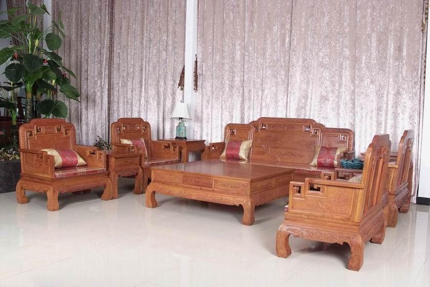 缅甸花梨木沙发广州天河红木家具专卖店红木沙发明清