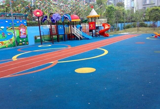 供应幼儿园卡通地板室外EPDM塑胶跑道