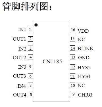 cn1185低功耗四通道电压检测集成电路产品大图