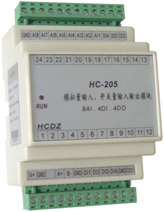 4路开关量输出,三极管集电极开路输出(50v/100ma);可控制