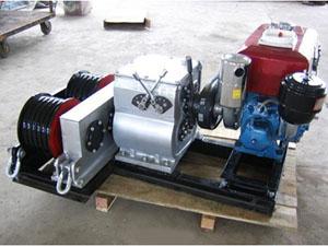双卷筒汽油绞磨机 汽油轴传动卷扬机