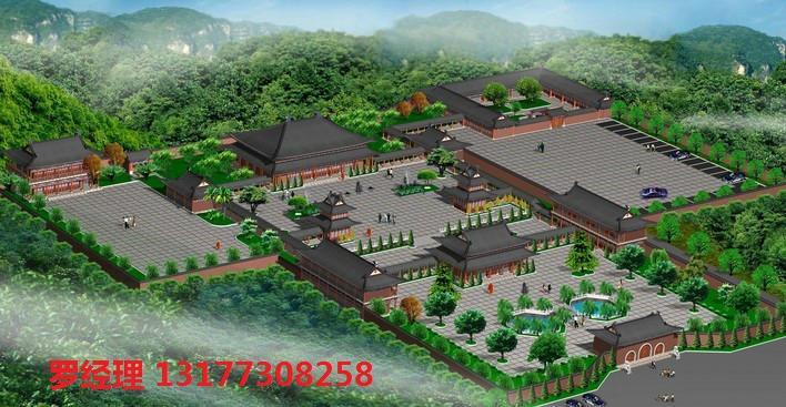 寺院建筑设计产品图片高清大图,本图片由湖北中柱古建园林有限公司