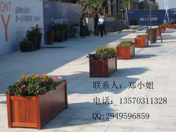 北京防腐木花箱 河北环保实木花箱 长方形花箱供应商
