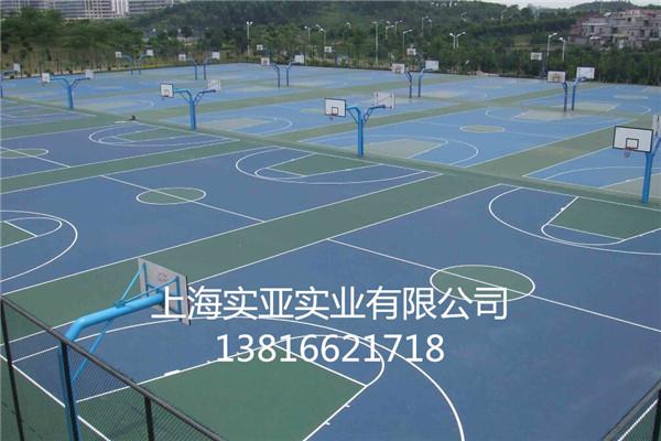 长宁塑胶篮球场施工高清图片 高清大图